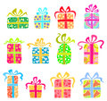Set of holiday presents Royalty Free Stock Images