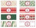 Set of 8 Holiday Theme Facebook Timeline Covers Isolated on White Royalty Free Stock Photo