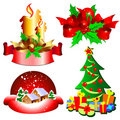 Set of holidays icons Stock Image