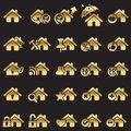 Set of home icons Stock Image