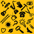 Set of home related objects Royalty Free Stock Photos
