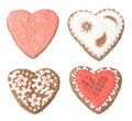 Set homemade cookies shape hearts Royalty Free Stock Photo