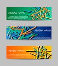 Set horizontal banners. Abstract vector backgrounds.