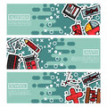 Set of Horizontal Banners about algebra Royalty Free Stock Photo