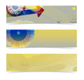 Set horizontal banners web site headers Royalty Free Stock Photos