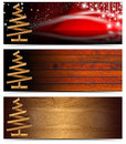 Set of Horizontal Christmas Banners Royalty Free Stock Photos