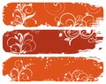 Set of horizontal floral autumn banners Royalty Free Stock Image