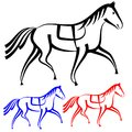 Set  horses outlines. Stock Images