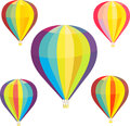 Set of hot air balloons Royalty Free Stock Photo