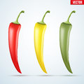 Set of hot chili peppers Royalty Free Stock Photo