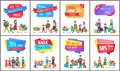Set of Hot Prices Special Offer Promotions Banners