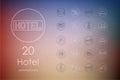 Set of hotel icons Royalty Free Stock Photo