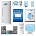 Set of house appliances. Stock Photos
