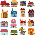 Set of house icons cartoon vector illustration Royalty Free Stock Images