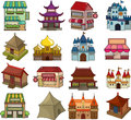 Set of house icons cartoon vector illustration Stock Images