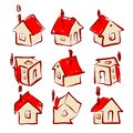 Set of house icons for your design this is file eps format Stock Image