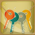 Set of House Keys Royalty Free Stock Photo