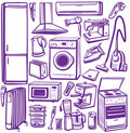 Set of household appliances Stock Photography