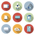 Set of household appliances vector icons Stock Photo