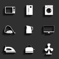 Set of household appliances vector icons this is file eps format Royalty Free Stock Image