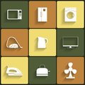 Set of household appliances vector icons this is file eps format Royalty Free Stock Photography