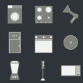 Set of household icons Stock Photography