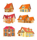 Set of houses Stock Image