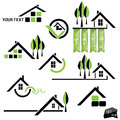 Set of houses icons for real estate business Royalty Free Stock Photography