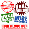 Set of huge reduction stamps grunge rubber vector illustration Royalty Free Stock Photography