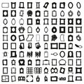 Set of Hundred Frames. Beautiful Vector. Royalty Free Stock Photo