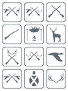 Set of Hunting club logo icon