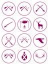 Set of Hunting club logo icon