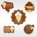 Set of ice cream badge vector illustration eps Royalty Free Stock Image