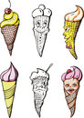 Set of ice creams Royalty Free Stock Images