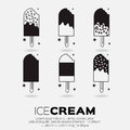 Set of Ice Creams. Royalty Free Stock Photo