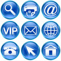 Set icon blue #02. Royalty Free Stock Photo