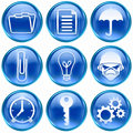 Set icon blue #06. Stock Photo
