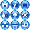 Set icon blue #10. Stock Photo