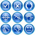 Set icon blue #12. Royalty Free Stock Images