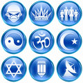 Set icon blue #14. Royalty Free Stock Photography