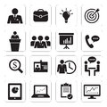 Set of icon business office Royalty Free Stock Photo