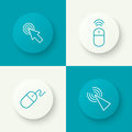 Set icon Computer mouse Royalty Free Stock Photo