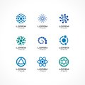 Set of icon design elements. Abstract logo ideas for business company, communication, technology, science and medical