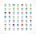 Set of icon design elements. Abstract logo ideas for business company. Finance, communication, eco, technology, science