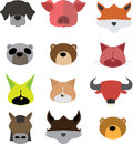 Set icon head animal Royalty Free Stock Photo