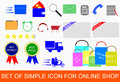 Set of Icon for Online Shop Royalty Free Stock Photo