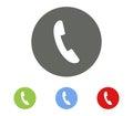 Set of icon phone handset illustrated