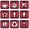 Set icon red #01. Royalty Free Stock Images