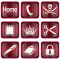 Set icon red #07 Royalty Free Stock Photos
