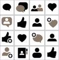 Set icon Social network